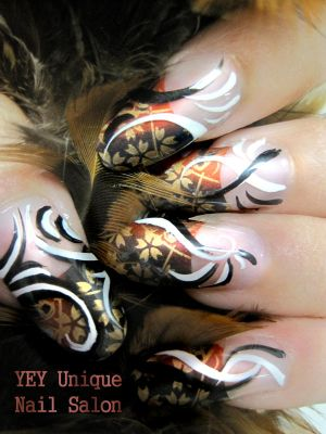 celtic nail art design