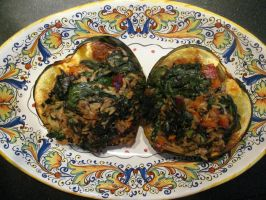 Stuffed Acorn Squash - Vegan by VeganVagabond