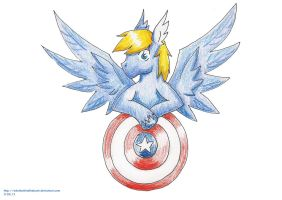 Captain America pony by WitchBehindTheBush