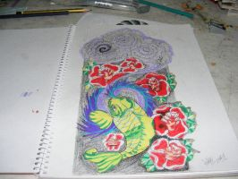Koi fish colored by austate