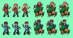 Pokemon X and Y Trainers Sprites by tebited15