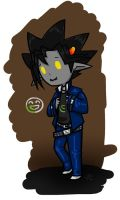 Yugi as a Troll by roseannepage
