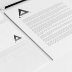 delta logo letterhead and envelope mockup by AniPal