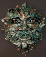 Green Man Mask by peripheral-visions