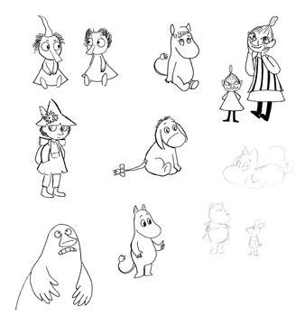 Moomin Characters by HyperSpaceOddity