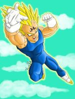 Majin Vegeta - Coloured Lineart by Noel-TF