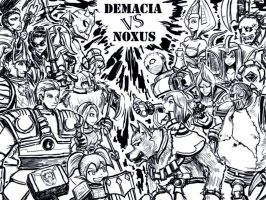 DEMACIAvsNOXUS by ms05zaku