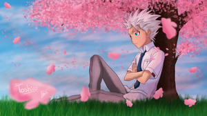 Toshiro and cherry blossom by SilverDrawing88