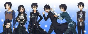 Kirito Stages by VitorAmorosoUzu
