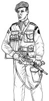 British Commando Officer by linseed
