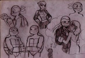 TMNT doodles by RednBlackDevil