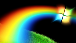 Hd Windows rainbow wallpaper 1920x1080 by jeffrockr