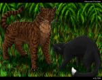 Tigerclaw and Ravenpaw by Vialir