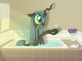 Bathing Chrysalis by Farminilla