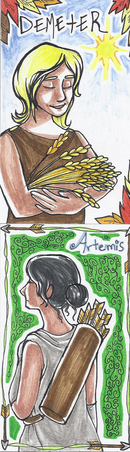 Demeter and Artemis