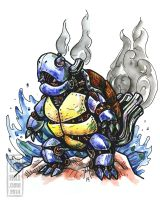 Steampunk Pokemon: Wartortle by jbrenthill