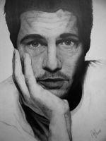 Brad Pitt portrait by XxMondayMorningxX