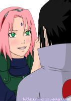 SasuSaku together again by byBlackRose