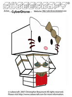 Cubeecraft - Hello Kitty 'Slave' Leia by CyberDrone
