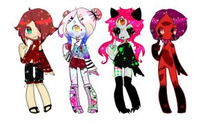 Free And Charged Adopts(CLOSED) by PotatoRainbow