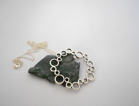 For Sale: Circle of Circles Pendant by Wirejeweller