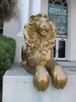 Lion Statue 3 by Nightmare247Stock