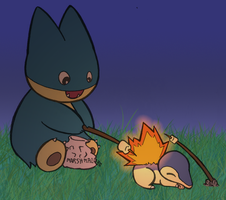 Pokemon Marshmallow Roast by Blackmoonrose13