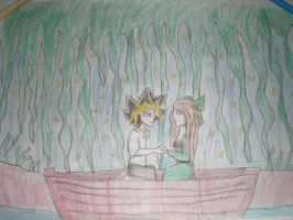 Yami and July in version Little mermaid by pispispis