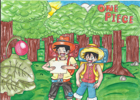 Ace and Luffy (for RuffyHaoshoku) by Angie-Crystal-Star