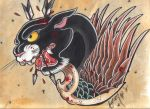 Flying panter head - colored by BettieBoner