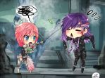 Commission: Lightning and Caius 1 by HappySmileGear