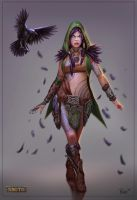 Morrigan Woodland Rogue Concept by PTimm