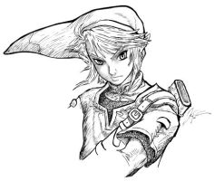 Legend of Zelda - Link - sketch v2 by lthot