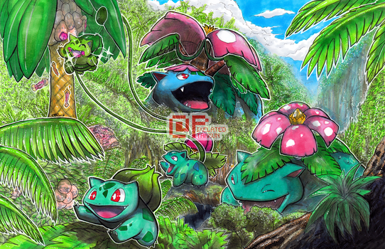 Poke Days: Bulbasaur Family by Pixelated-Takkun