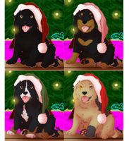 Christmas pups! -new price by Alcemistnv