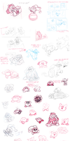 Massive Kirby sketchdump by epesi
