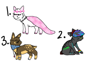 Adopts (closed) by Sparkpup28