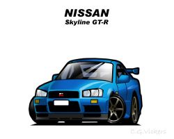 Chibi Nissan Skyline GT-R by CGVickers