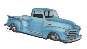 1948 Chevy Truck in marker by tobycole