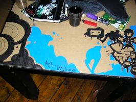 'sketch city' drawing on table by madposhdan
