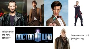 10 Years of New Doctor Who by hntr0829