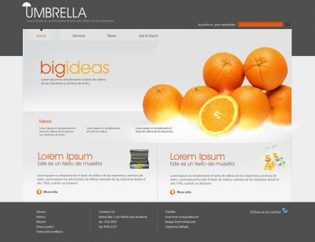 Umbrella Business Site by EAMejia