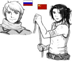 Russia and China by elf-artist87