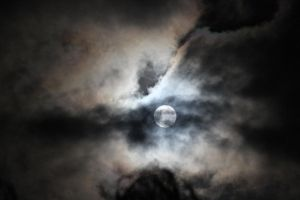 Cloudy Moon by N-ScapePhotography