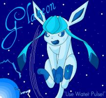 Glaceon - Use Water Pulse by CarnationRose