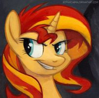 Square Series - Sunset Shimmer by sophiecabra