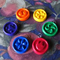 Ocarina of Time Medallion Charms by TokenGinger