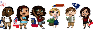Southern chibis pt.1 by Alexander-Rowe
