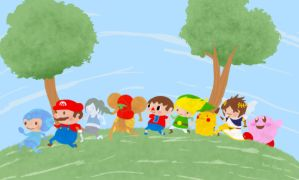 Super Smash Brothers Wii U by misterzubair
