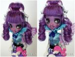 Equestria Girls Rainbow Rock Twilight doll repaint by kamarza
